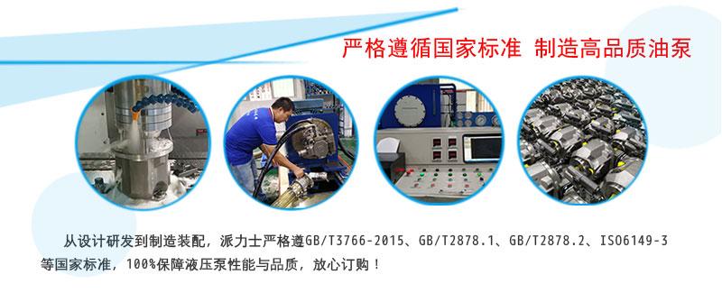 派力士液压柱塞泵制造标准